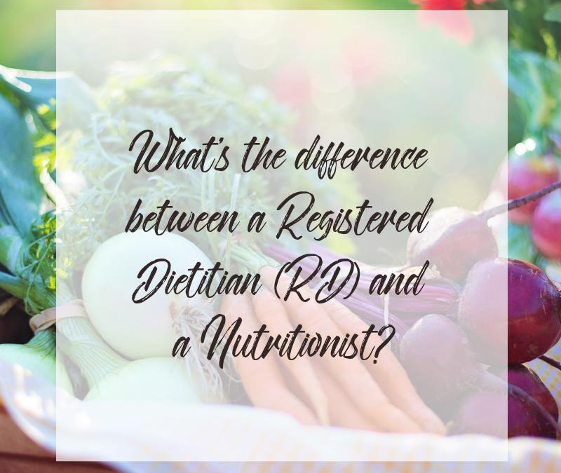 Registered Dietitian vs. Nutritionist?