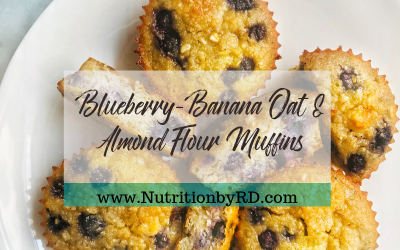 Blueberry-Banana Oat & Almond Flour Muffins