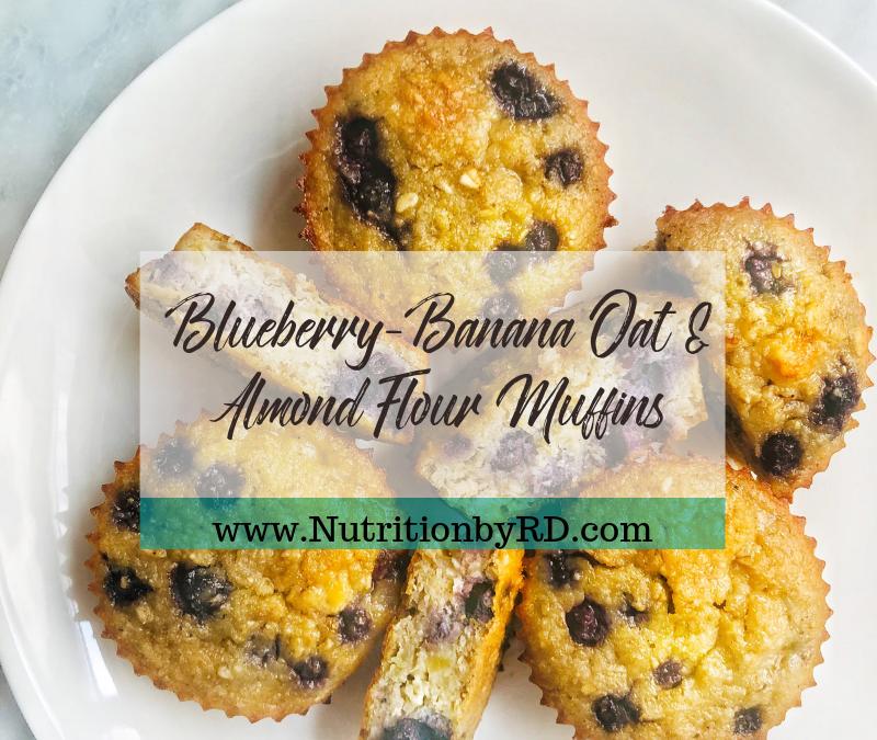 Blueberry-Banana Oat & Almond Flour Muffins