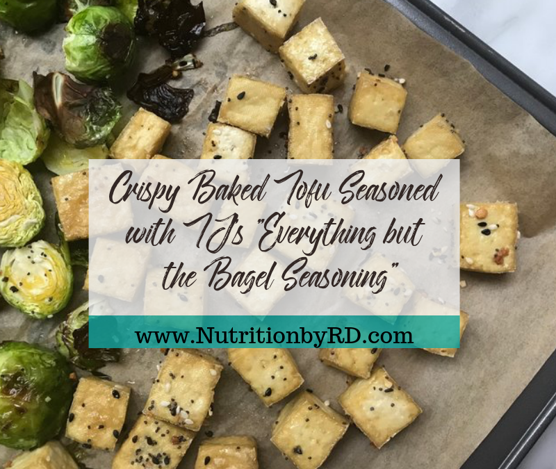 Crispy Baked Tofu Seasoned with TJ's 'Everything but the Bagel Seasoning'