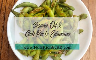 Sesame Oil & Chilli Paste Edamame