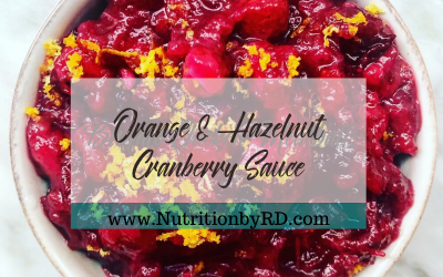 Orange & Hazelnut Cranberry Sauce